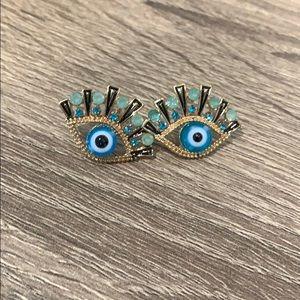 Blue Eye Earrings